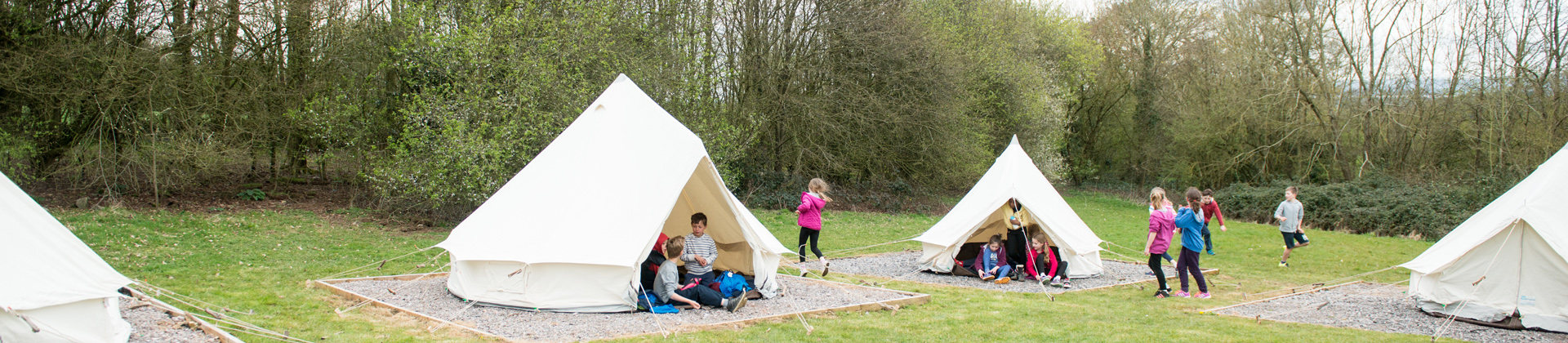 Tents at Woodhouse Park