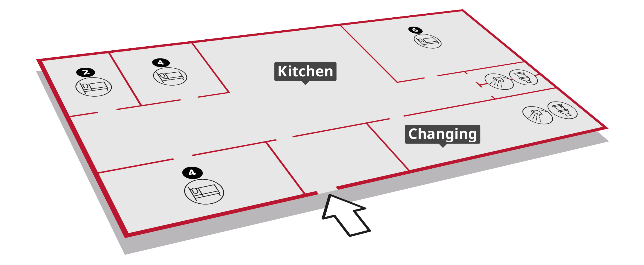 The Bunk House Floorplan